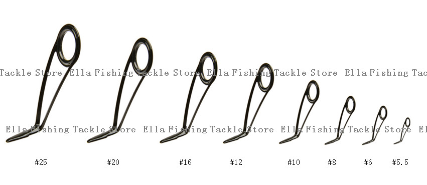 KL H Series Set Kit 1 SET (8pcs) Guide fishing rod guides