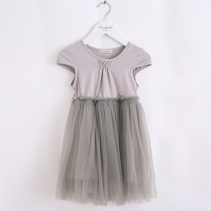 2017 Korean version of the new children's clothing CANDYDOLL Cinderella princess dress pleated summer dress girls dress children baby lace princess dress girls summer 2017 korean version of the new kids children gauze qz 3305
