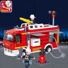 343Pcs City Water Tank Fire Truck Building Blocks Sets Kids Technic Bricks Educational Toys for Children недорого