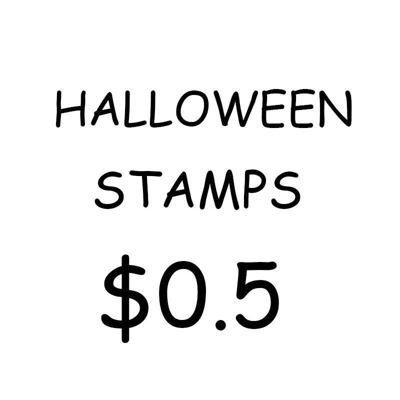 InLoveArts/Halloween Decoration/Transparent Clear Silicone Stamps for DIY Scrapbooking/Card Making/Kids Halloween FUN Supplies