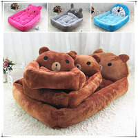 Hot Sale Lovely Dog Beds Fashion Pets House 4 Cute Cartoon Style Soft Warm Puppy Dogs