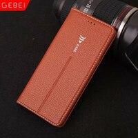 Luxus Original Brand GEBEI Leder Flip Einzigartiges Magnet Design Stand Case Für Samsung Galaxy Note 8