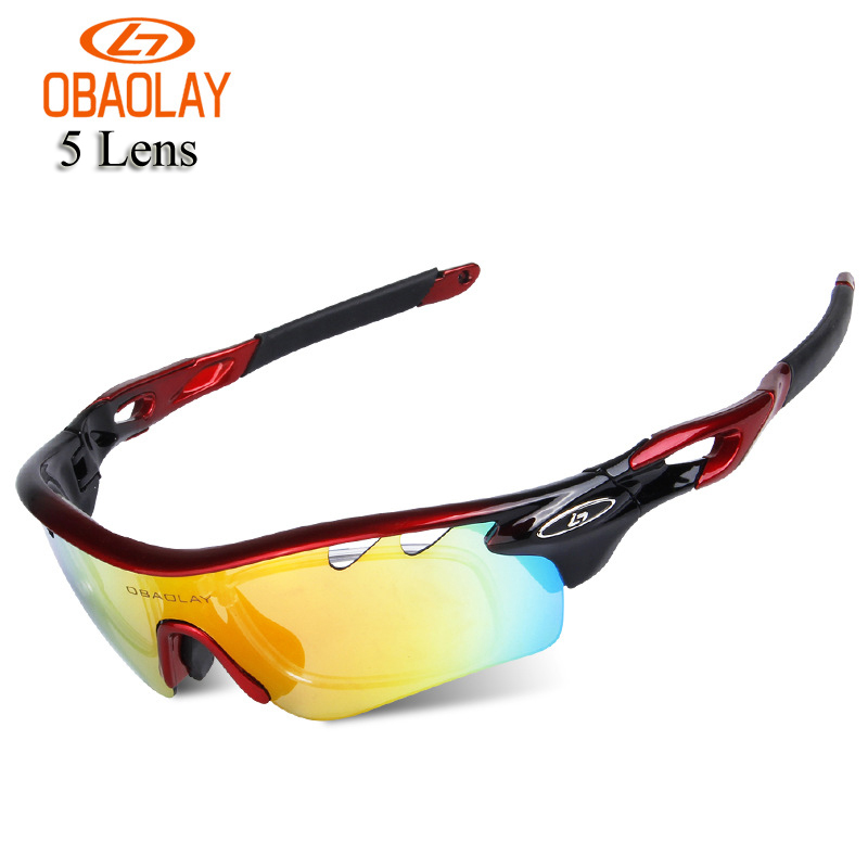 New Arrival 2017 Polarized Cycling Sun Glasses UV400 Outdoor Sports MTB Bicycle Bike Sunglasses Goggles Eyewear 5 Lens Free