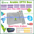 Árabe IPTV Caja 1 GB/8 GB Canal de Streaming En Vivo Amologic s805 Quad Core Android 4.4 Android Árabe TV caja HD1080P
