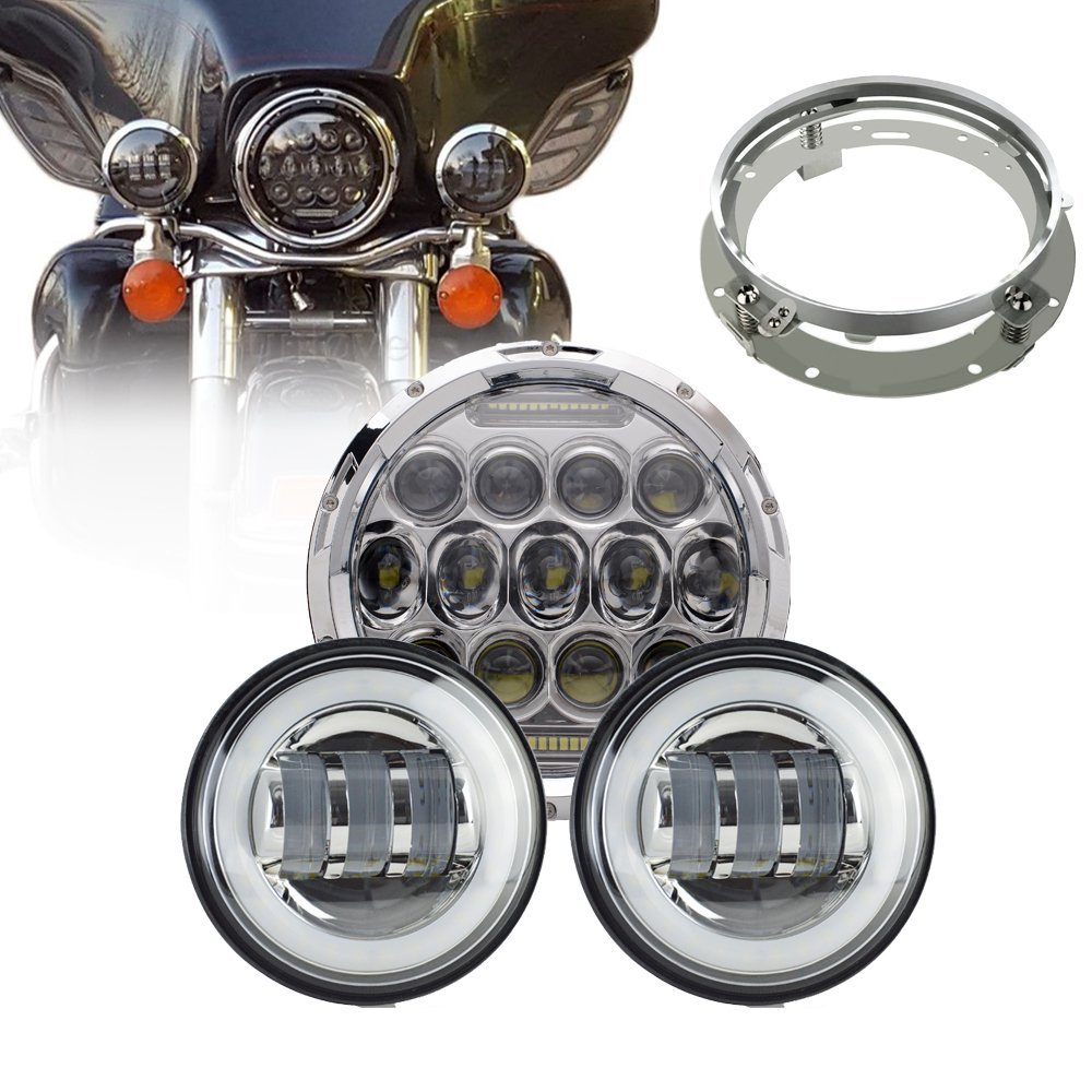 цены 75W 7 Inch Harley LED Headlights + 4.5