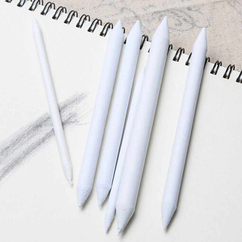 6pcs/set Blending Smudge Stump Stick Tortillon Sketch Art Drawing Pen Tool White DropShip
