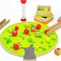 1 Set Educational Children's Wooden Hands Clip Fruits Toys Intelligence Jigsaw Puzzles Baby Kids Early Learning Games Gifts