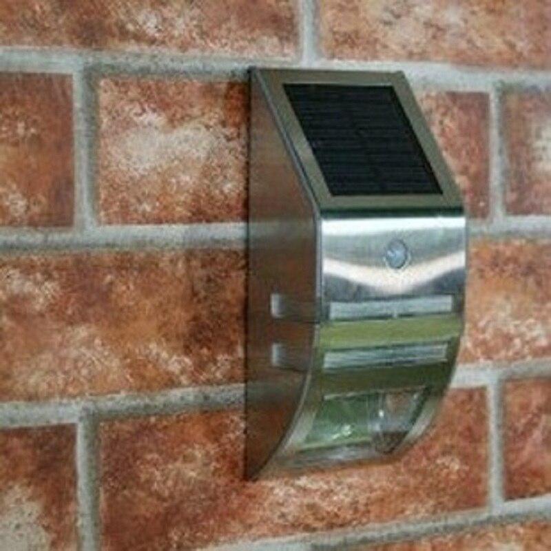 Stainless Steel LED Solar Light Outdoor Yard Wall Household Gate Garden Patio Balcony Lamp Humans Body Infrared Sensor Lights