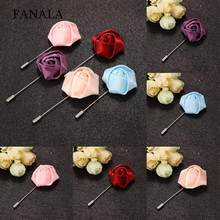 Clothes Unisex 1PC Fashion Rose Flower Brooch Lapel Pins Hot Accessory(China)