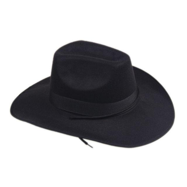 New Unisex Cappello di Feltro Occidentali Cowboy Cowgirl in New ... 35c6a70e220c