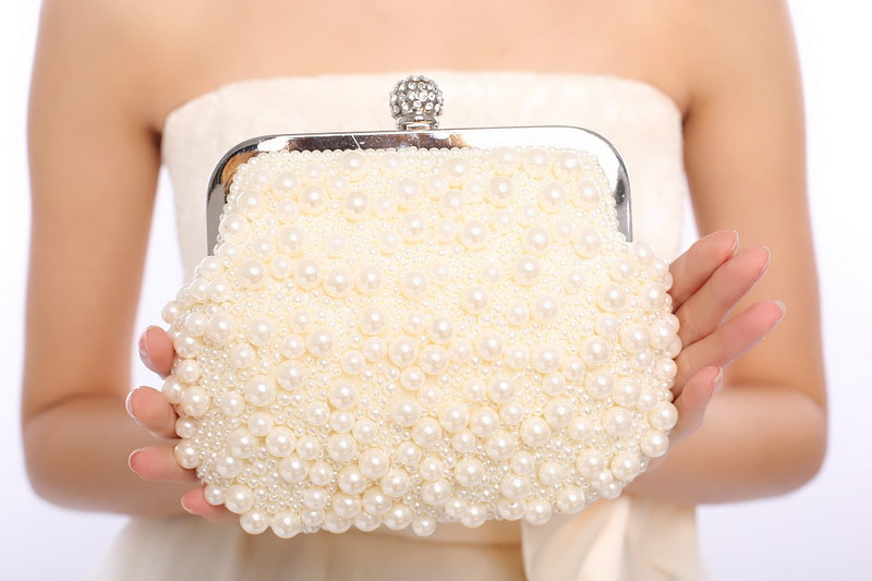 Party wedding bag pearl hand made small evening clutch bags for  ladies handbags