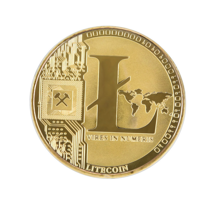 Gold Plated Coin Commemorative Collectible Golden Iron ETH Ethereum Miner Coin X