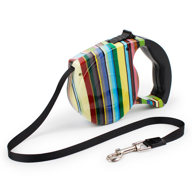 Dog Traction rope Traction belt dog leash Collars Harnesses Leads Automatic retractable Up to 5 meters Dog Supplies Pet Products
