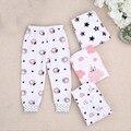 Calças PP 4 Peças 1 Lote Bebê Calças Kid Desgaste marca Calças do bebê Dos Desenhos Animados Da Menina do Menino Infantil Creppers Roupas Crianças Algodão Pant
