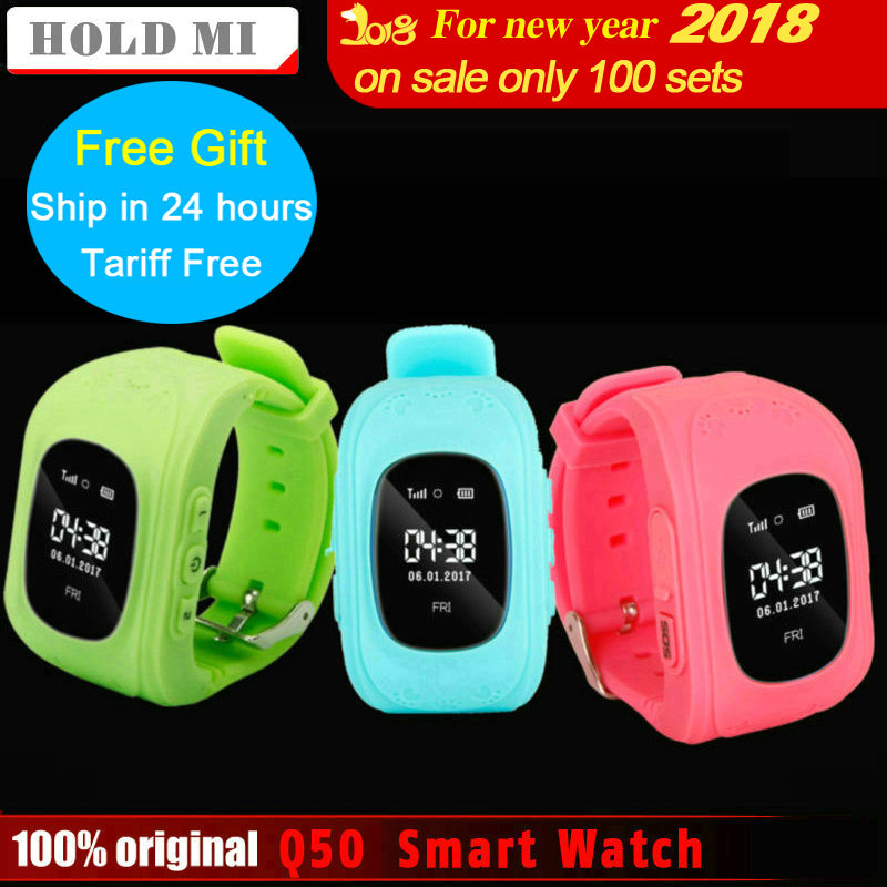 Hold Mi Anti Lost Q50 OLED Child GPS Tracker SOS Smart Monitoring Positioning Phone Kids GPS Baby Watch Compatible IOS & Android