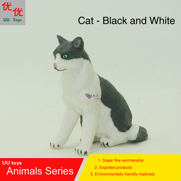 Kids Toys Simulation-Model Animals Children And Cat Educational-Props White Hot-Toys:black