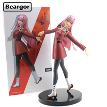 Free Shipping 8 Darling in the FranXX Zero Two 02 EXQ ver. Boxed 21cm PVC Anime Action Figure Collection Model Doll Toys Gift 9 inch date a live nightmare tokisaki kurumi two gun ver boxed 23cm pvc anime action figure collection model doll toys gift