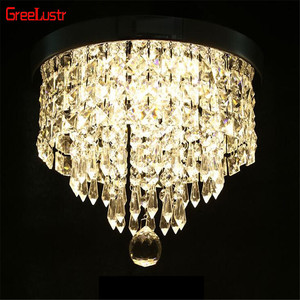 Image 4 - Modern Crystal Pendant Ceiling Lamp Led Lusters Luminaria For Balcony Entrance lamp Plafonnier Lighting Fixtures AC110 220V