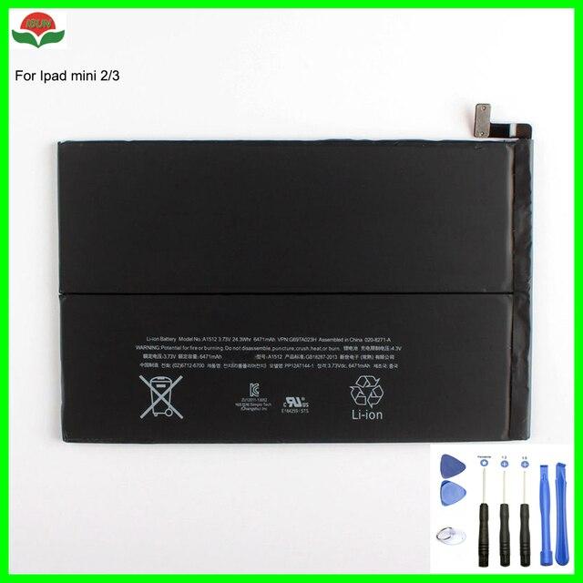 ISUN 6471 mah mini2 mini3 pin A1512 cho ipad mini 2 Mini 3 A1489 A1490 A1491 A1599 pin máy tính bảng đối với Apple với công Cụ sửa chữa