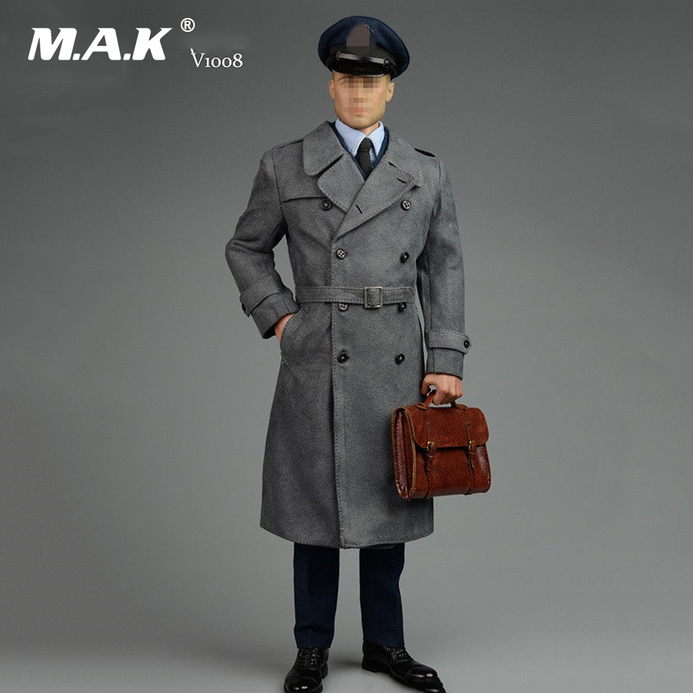 1/6 Scale V1008 Flying Officer WWII Allies Commander Windbreaker Uniforms for Narrow Shoulder Body