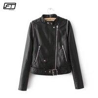 Fitaylor Autumn Female Leather Jacket Black Woman Bikers Short Pu Faux Leather Jacket Women Turkey Blouson