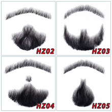Brazilian Lace Beard For Men 100% Human Hair Hand Made Mustache Remy Hair Cosplay Swiss Lace Invisible Fake Beards SalonChat hand made human hair man handtied eyebrow 018 black color hand knot fake eyebrow for men