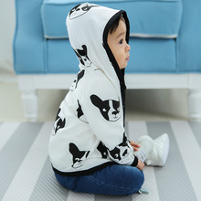 2017 New Spring Baby Coat And Jacket For Girl Boys Cartoon Bear Dog Hooded Coat For Girls Full Sleeve Toddler Outerwear