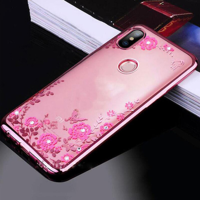 classic fit df7ba 65f0c US $2.99 40% OFF|For Xiaomi Mi A2 lite Case Glitter Bling Flower Soft  Silicone Phone Cases For Xiaomi MiA2 lite Cover Soft TPU Capas Coque  5.84
