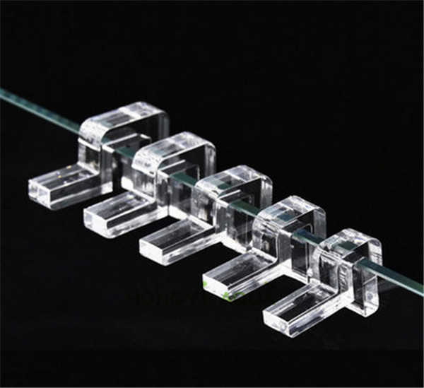 4 Pieces/lot Acrylic Fish Tank Glass Cover Aquarium Cover Bracket Support Frame 6mm/8mm/10mm/12mm/15mm/19mm Aquarium Supplies