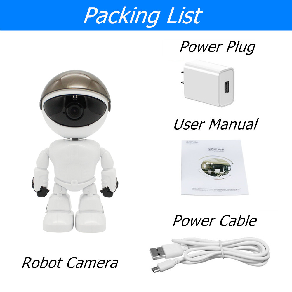 R004 WHITE COLOR ROBOT CAMERA