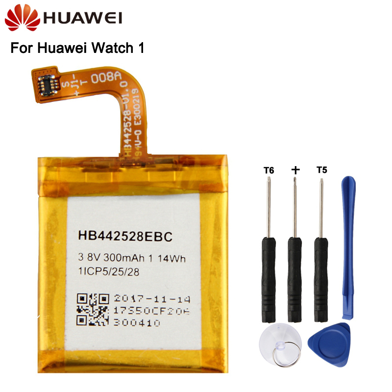 Huawei Original Replacement Battery HB442528EBC For Huawei Watch 1	300mAh New Authentic Battery