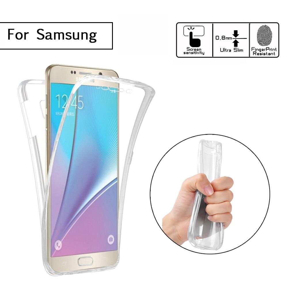 Ultrathin Soft TPU 360 Full Body Soft Silicone Case For Samsung Galaxy J1 J3 J2 J5 J7 Prime A3 A5 A7 2017 2016 2015 Cover Bags