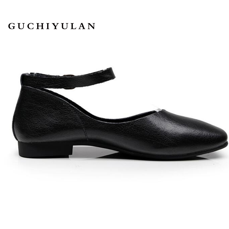 все цены на 2018 New luxury brand flat shoes women loafers genuine leather square heels loafers women casual shoes chaussures femme size 43