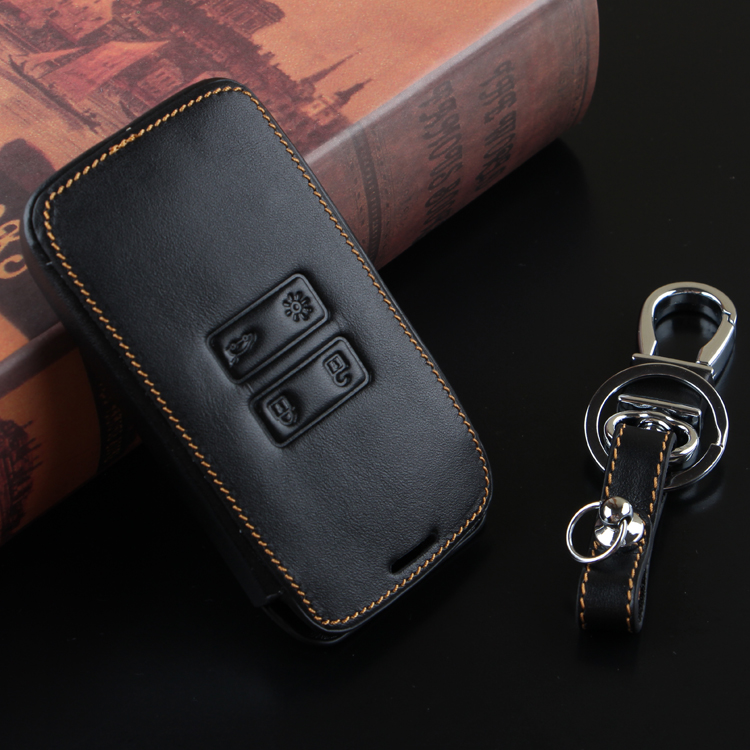 Leather car key For 2016 Kadjar Remote Case Cover Wallet Key Chain For Renault 2016 Kadjar