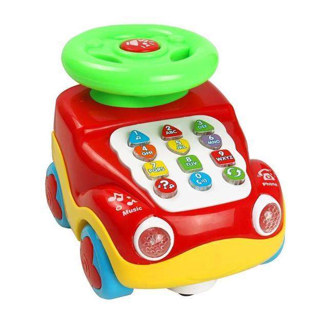 VKTECH bebé recién nacido coche educativo temprano juguetes de música para niños cumpleaños regalos de navidad Montessori modelos de coches Juguetes