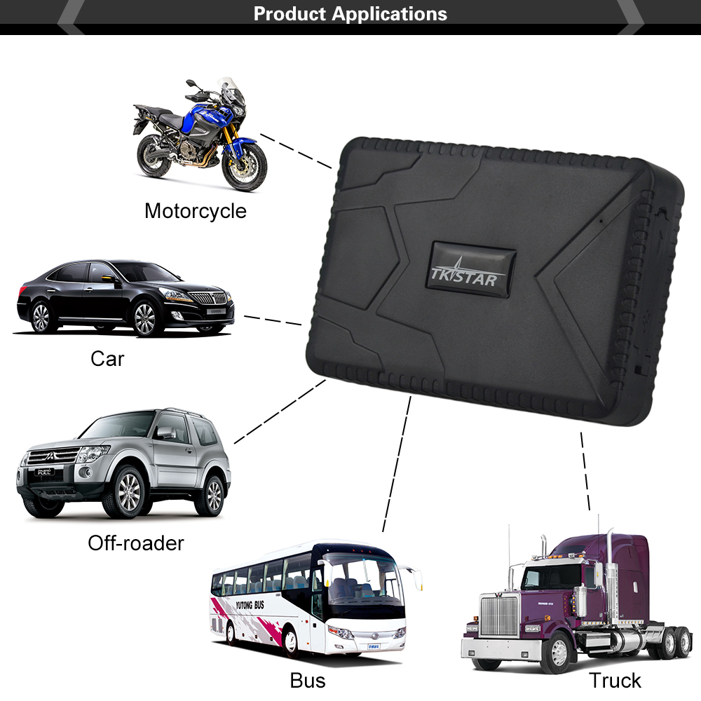 Vehicle tracker TK915 12 24V GPS Locator Waterproof Strong Magnet Car GPS Tracker 10000mah Long Battery