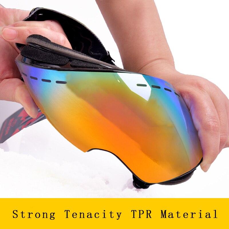 Marsnow lunettes de Ski Double UV400 Anti-buée lentille de Ski masque lunettes Ski hommes femmes enfants enfants garçon fille neige Snowboard lunettes - 5