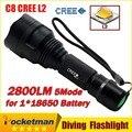 2800LM C8 Cree XML2 XM-L2 СВЕТОДИОДНЫЙ Фонарик Lanterna Фонарь для Кемпинга Свет Лампы для велосипедов