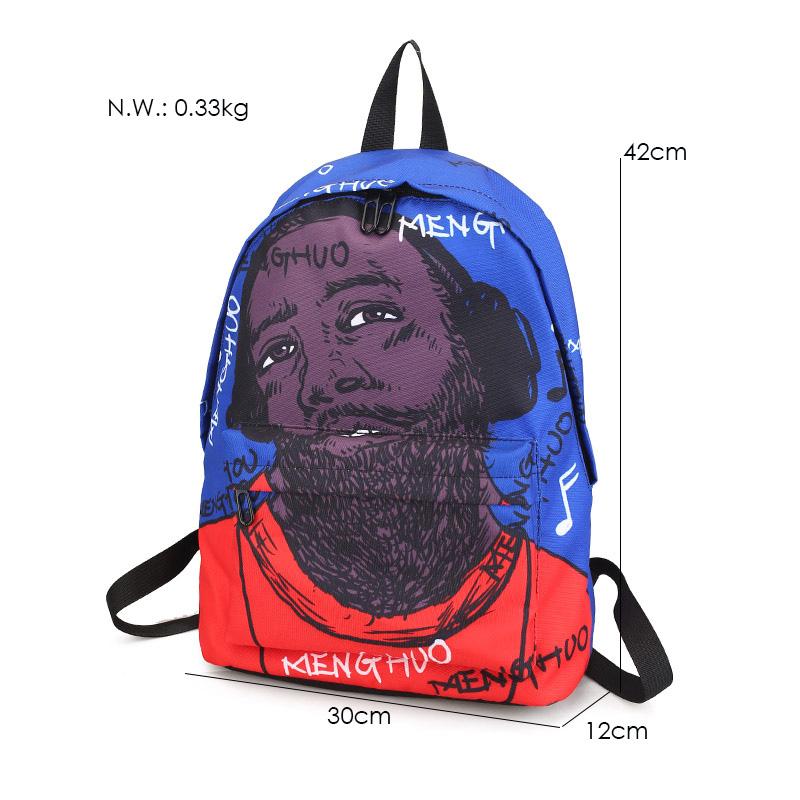 Menghuo Newest Women Backpacks 3D Printing Backpack Female Trendy Designer  School Bags Teenagers Girls Men Travel dd1206fa66982