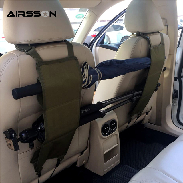 Outdoor Hunting Truck Car Gun Holster Back Seat Protection Rack Belt Storage Rifle Safe Secure
