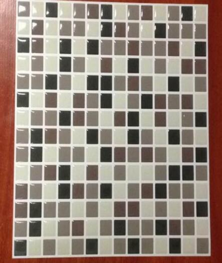 Backsplash Tile for Kitchen Marble Square Peel and Stick Tile, Adhesive Vinyl Wall Tiles, Urban Mosaic 9.8
