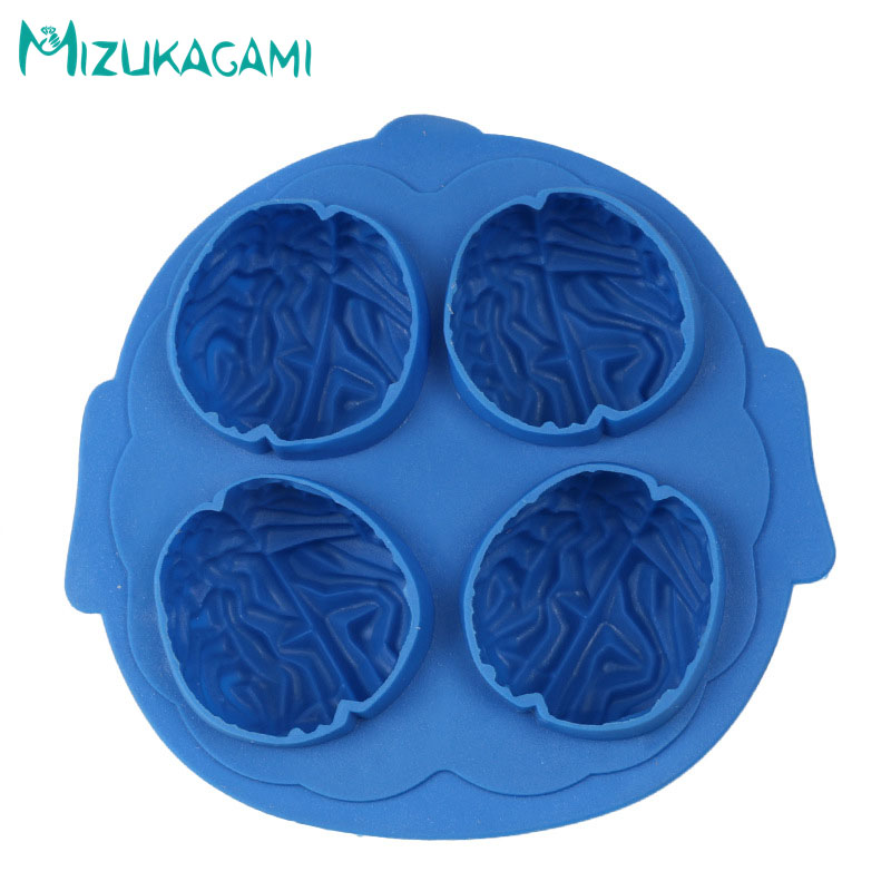 Halloween Series 3D Brain Styling Chocolate Mold Fondant Cake Mold Food Grade Silicone Mold DIY Kitchen Baking Tools DJ-01486 image