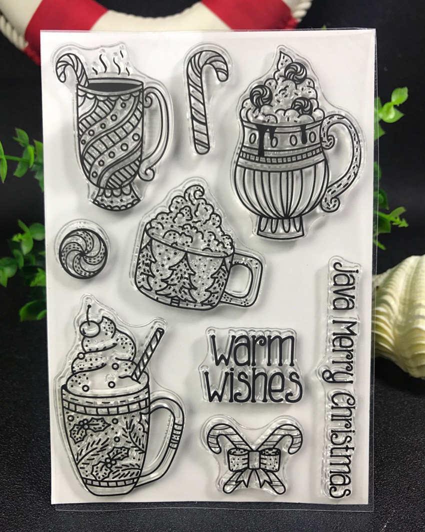 Warm wishes glass  Transparent Clear Silicone Stamp/Seal for DIY scrapbooking/photo album Decorative clear stamp