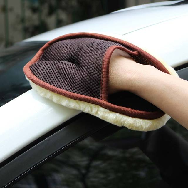 Car Styling Wool Soft Car Washing Gloves 15*24cm Automotive Cleaning Brush Motorcycle Washer Care Products 4
