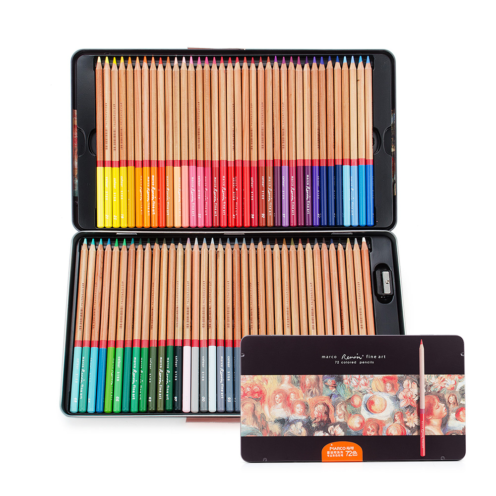 72 Count Premium Distinct Colored Pencils for Adult Coloring Books - Pre-sharpened - Color Number on Pencils(Pencil Set) coloring of trees