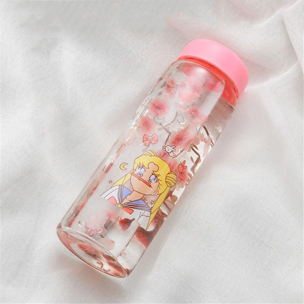 US $15 07 OFF Jepang Cute Kartun Gadis Kaca Botol Air CHIC 450 Ml Leak Proof Botol Minum Dengan Insulated Cover Portable Susu Cangkir Kopi Botol