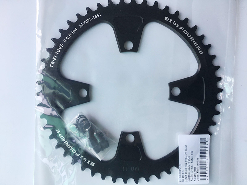 Fouriers MTB Single Chainring BCD 104mm Big Ring Circle Narrow Wide Teeth For S H I M A N O D e o r e X T 50T 52T 54T Black p a r o s h брюки
