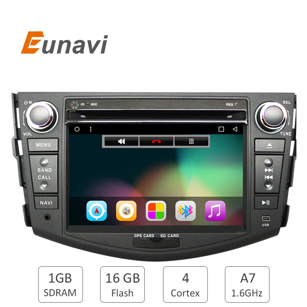 Quad Core 1024*600 HD Screen 2Din Android 6.0 Car DVD for Toyota Rav 4 RAV4 Audio Video Stereo GPS Navigation Radio RDS 3G Wifi android 5 1 car radio double din stereo quad core gps navi wifi bluetooth rds sd usb subwoofer obd2 3g 4g apple play mirror link