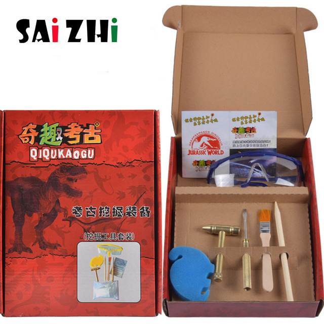 Fóssil de Dinossauro Saizhi Arqueologia Escavação DIY Criativo Crianças Brinquedos Puzzle Modelo Manual Experimento Científico SZ3406