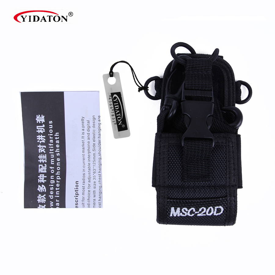 MSC-20D Walkie Talkie Taske Holder Nylon Taske Til Kenwood BaoFeng UV-5R UV-5RA UV-5RB UV-5RC UV-B5 UV-B6 BF-888S